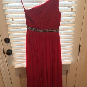 Red sequined evening dress size 4